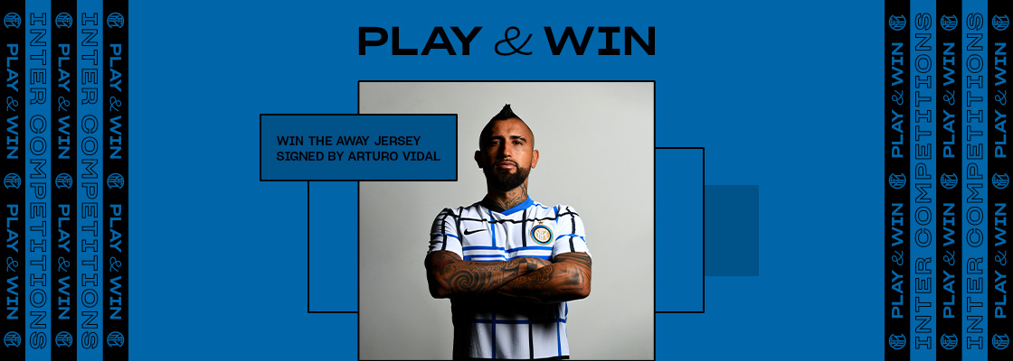 WIN THE AWAY JERSEY SIGNED BY VIDAL!
