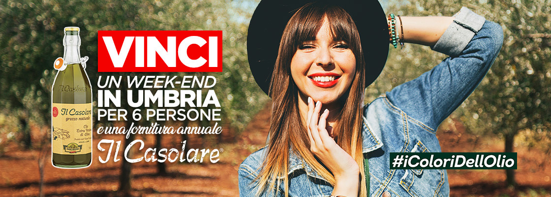 Vinci l'Umbria con #iColoriDellOlio